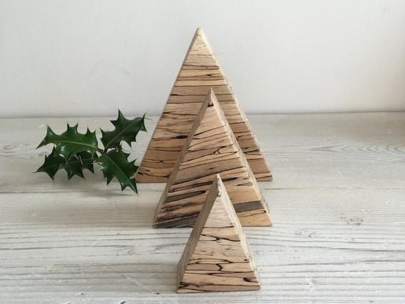 Wooden christmas tree decorations minimalist