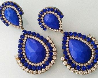 Earrings CLASSIC !  in Royal Blue