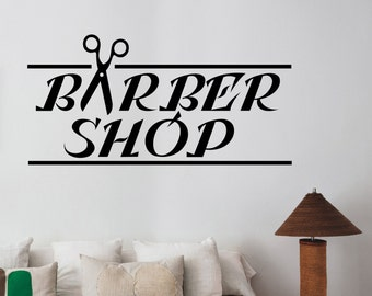 Barbershop Logo Sticker Barber Shop Window Decal Barbers - Custom vinyl wall decals logo