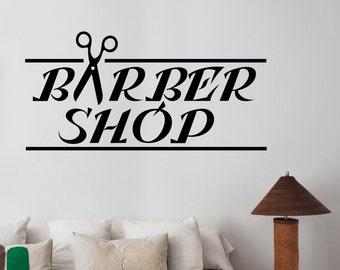 Barbershop Logo Sticker Barber Shop Window Decal Barbers - Custom vinyl wall decals logo