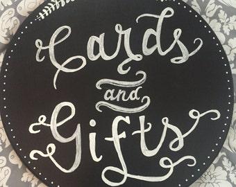 "Handmade ""Gifts"" Round Chalkboard"