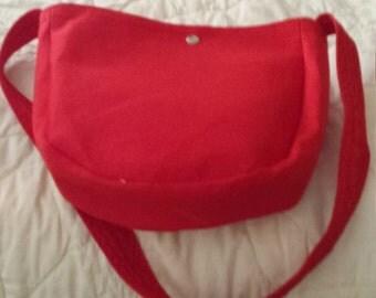 Must have Bright Red Linen Handbag