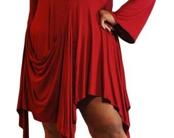 Asymmetrical Chemise Dress