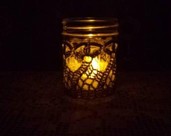 Crochet Scallop Candle Jar