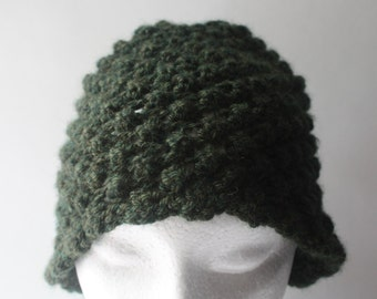 Knitted Raspberry Stitch Hat, Washable Wool