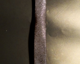 Metallic Silver Dots on Black Skinny Tie