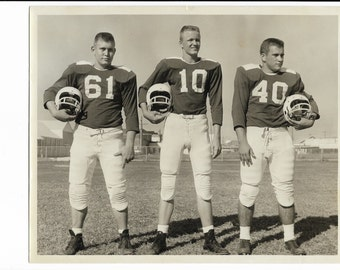 vintage football photograph, file download