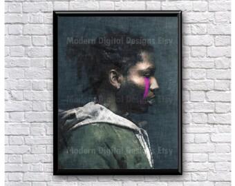 ASAP Rocky Painting Hip Hop Music Song Lyric  5x7 8x10 12x16 18 x 24