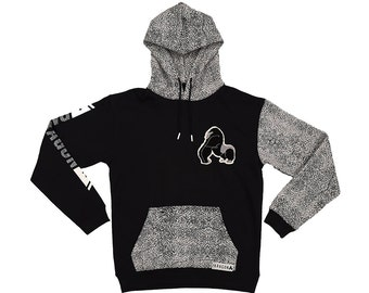Elephant Skin/Cement Print Hoodie by Paragon NYC