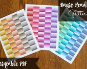 PRINTABLE Glitter Planner Header Stickers - Combo Pack!