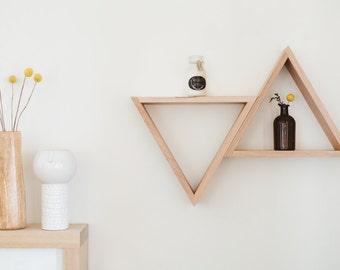 Triangle Shelves in Tasmanian Oak