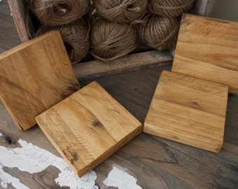 Reclaimed wooden coasters made from pallet wood
