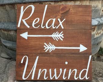 Handmade Bathroom Wood Sign
