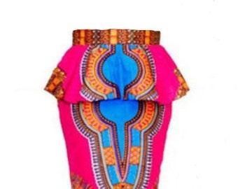 African Peplum Skirt