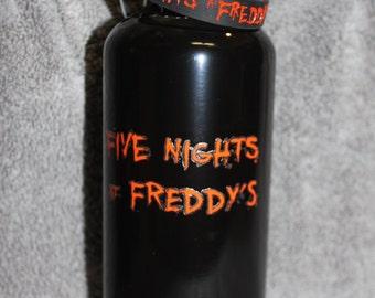 FNaF Water Bottle Font FIVE NIGHTS at FREDDYS