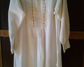 Handsome vintage French men's dress shirt
