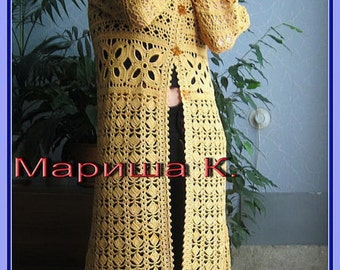 Crocheted sweater tunic coats cardigan made to order, crochet handmade