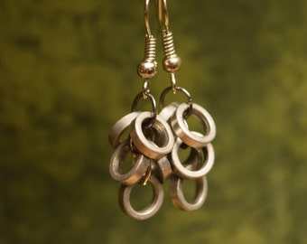 Bike Chain Ring Earrings