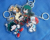 2'' Double-sided Acrylic Charms - My Hero Academia