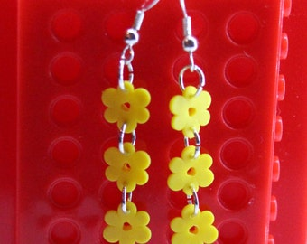 Lego Flower Dangling Earrings