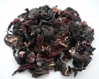 Hibiscus Dried Flowers Loose Herbal Tea - Superior Quality