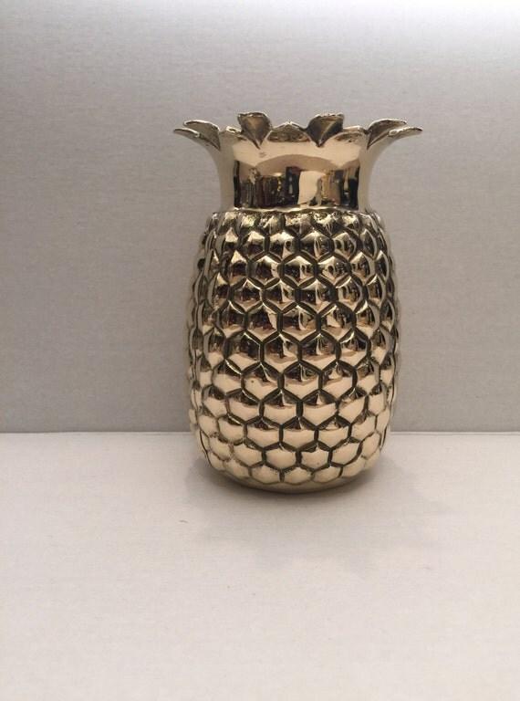gold brass pineapple vase. Black Bedroom Furniture Sets. Home Design Ideas