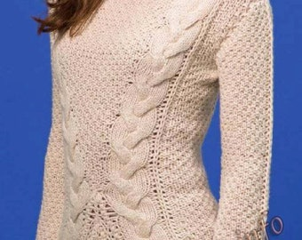 Jumpers . Women winter sweater knitted.hand-knitted blouse.