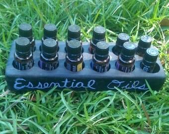 Chalkboard Essential Oil Tray - Wooden Handmade Case