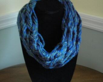 Handmade Cowl Neck/ Infinity Scarf (Blue, Green, Purple, Yellow)