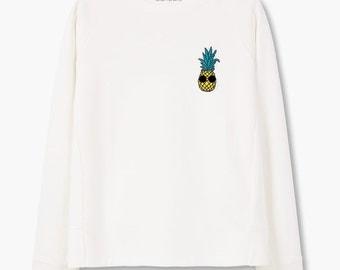 "Sweatshirt ""Pineapple With Sunglasses Pocket"""