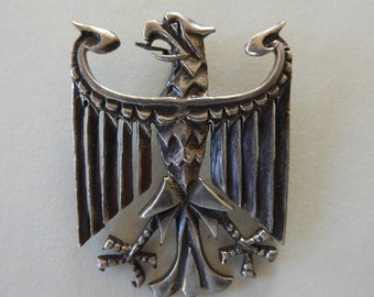 Sterling Silver German Eagle Pendant