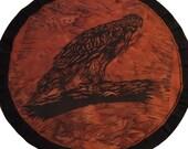 Mythala: Watching Like a Hawk; Mandala...Myth...Mythala (Wall Hanging, Altar Cloth, Prayer, Meditation, Sacred Art, Devotional, Ceremony)