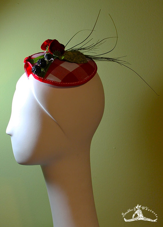 Award-Winning Picnic Themed Fascinator - Unique Fascinator - Unique Summer Fascinator - Derby Fascinator - OOAK