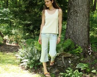 organic hemp tank top - loose fit - undershirt - 100% hemp and organic cotton - custom made to order - natural or hand dyed
