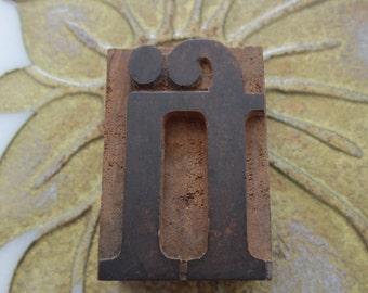 Letterpress Wood Type Printers Block fi Ligature