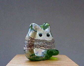 Cat Bead Handmade Lampwork Focal - Chad Itty Bitty FatCat