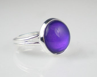 Deep Violet Blue Nail Polish Ring Let's Talk Nail Polish Jewelry