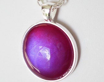 Purple Red Blue Nail Polish Necklace Jewelry China Glaze Caribbean Temptation Nail Polish