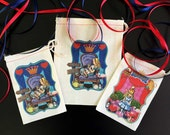 Red Pink Blue Alice in Wonderland Party Favor Bags | Onederland 4x6 | 6x8 | 8x10 Personalized Customized | UnBirthday Tea Party Queen Alice