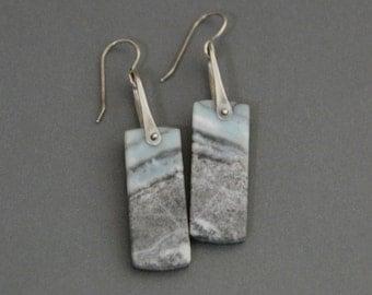 Pinned Amazonite Earrings