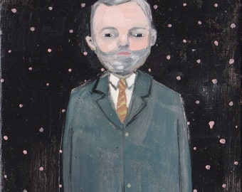 Original oil painting portrait - Mr. Carlisle
