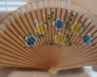 Hand Painted Wood Folding Fan