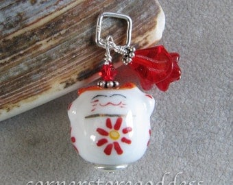 Maneki Neko Lucky Fortune Kitty Cat Pendant by Cornerstoregoddess