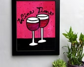 Wine Time - Red Wine Art ...