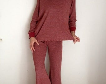Hoodie & Pant Set Spicy Toast Medium Red Rust