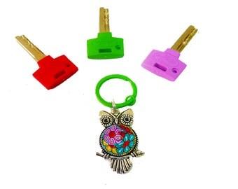 Owl keychain, Owl key ring ,Owl  Key,Owl, mother day , Keychain,cute keychain ,personalized keychain,keychain gift ,Keychain ,metal keychain