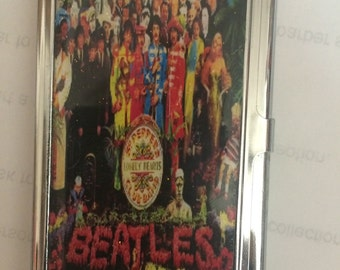 Beatles Sargent Peppers Lonely Hearts Club Business Card Holder Credit Card I.D. Case