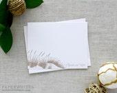 """Wedding Thank You Notes, Beach """"Sea Oats"""" Personalized Note Cards, Beach Note Cards - SET OF 25 Cards"""