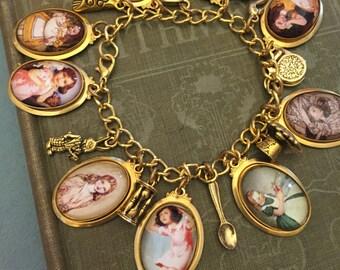 Alice Liddell Charm Bracelet, Alice in Wonderland Charm Bracelet, Alice Liddell, Charm Bracelet, Alice in Wonderland, Alice Charm Bracelet