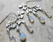 Winter's Branch 2015 - Rhodium and Moonstone Earrings